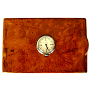 Vintage Cigarette Case, Skeleton Watch, Birds Eye Maple