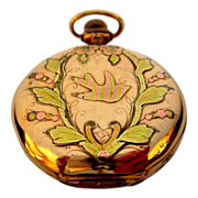 Antique Waltham Pocket Watch, Ladies Multi Color Rolled Gold