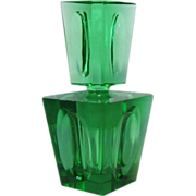 1930's Irice Perfume Bottle Japan, Hand Cut Deco