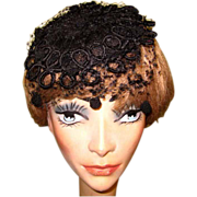 Bes Ben Hat, Vintage 40's, Black