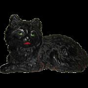 40's Cast Iron Cat Doorstop, Hubley Mold, Fireside Cat