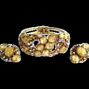 Juliana Rhinestone Bracelet & Earrings, Vintage 60's
