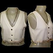 Vintage Vest / Blouse, Coin Fringe