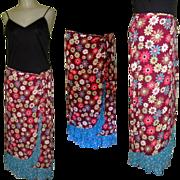 Gypsy Skirt, Vintage Peasant Floral BOHO, Zoe