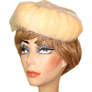 Voguemont Hat, Vintage Fur Ring Cap, 50's