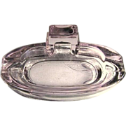 Lavender Glass Ash Tray / Soap Dish,Vintage Antique