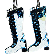 Rhinestone Boot Earrings, Loves 1975, High Top Lace Ups