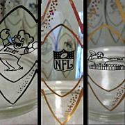 NFL Ice Bucket, Hedy Vintage 1960 Hazel Atlas Glass