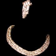 Deco Rhinestone Necklace & Earrings, Ora Demi Parure