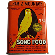 Song Bird Food Tin, 50's Hartz Mountain