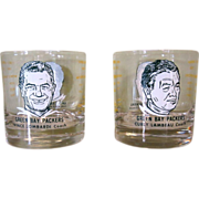 60's Lambeau Lombardi Glasses, Green Bay Packers