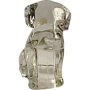 Glass Dog Candy Container, Vintage 1940's