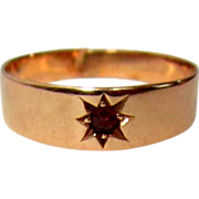 Rose Gold & Garnet Ring, Victorian Signet / Child / Infant