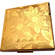 Elgin American Compact, Vintage Floral Beauty