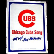 Hey Hey, Holy Mackerel, Cubs Sheet Music
