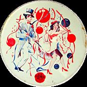 Vintage Noise Maker,Tin Lithograph 40's, NYE