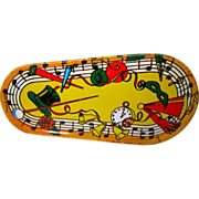 Vintage Noise Maker,Tin Lithograph 50's, NYE Music