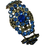 Czech Glass Filigree Bracelet, Art Nouveau