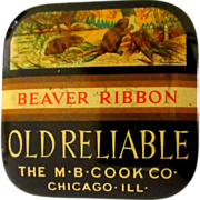 SOLD Beaver Typewriter Tin, Vintage Ribbon, Chicago