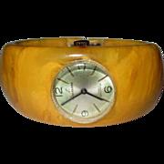 1940's Bakelite Watch, Vintage Bracelet