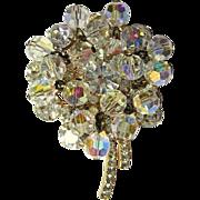 Crystal / Rhinestone Brooch, Juliana Floral