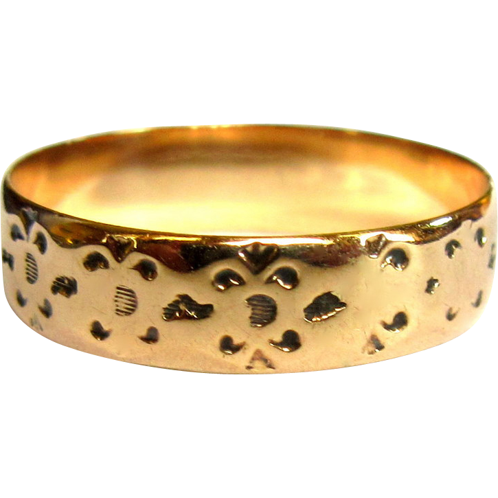 ring cigar band 10k gold from lakegirlvintage