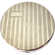 Art Deco Rouge Compact, Etched