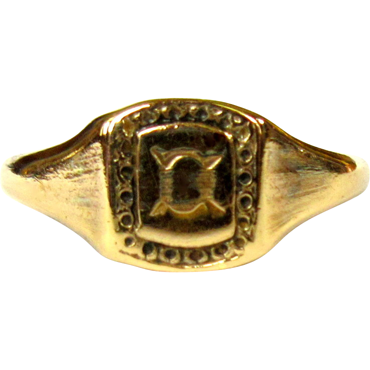 antique ring rolled gold signet from lakegirlvintage on