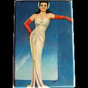 Celluloid Purse Mirror, Glamour Girl, 30's, 40's, Deco Hollywood