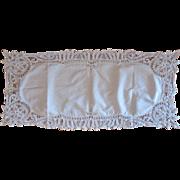 Vintage Battenburg Lace Dresser Scarf