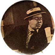 W.C. Fields Pinback Button, Vintage Personality Button