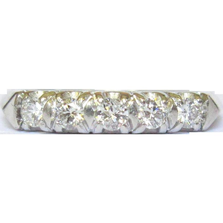 Platinum Amp Diamond Ring Wedding Band Art Deco From Lakegirlvintage On Ruby Lane