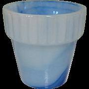 Akro Agate Flower Pot, Vintage Slag Glass