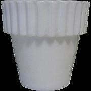 Milk Glass Flower Pot, Vintage Mini, Fenton