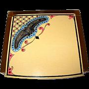 Celluloid Jewelry Box, Vintage 20's Art Deco, Paste Stones