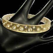 Rhinestone Bracelet, Lucite Bangle, 60's Moonglow