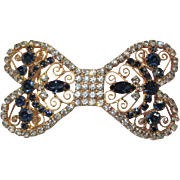 Juliana Rhinestone Belt Buckle, Vintage D & E