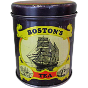 Boston Tea Company Tin, Vintage Jeremiah Jacobs