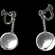 SOLD Pools of Light Earrings, Sterling & Rock Crystal Art Deco