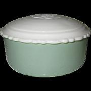 Jadite Dish & Lid, Art Deco Vanity Powder Jar
