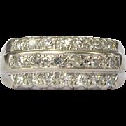 14K Diamond Band / Wedding Ring, Deco 1940's