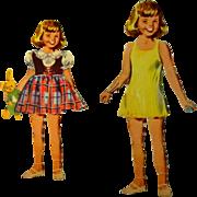 Vintage Paper Doll, Little Girl, 1950's
