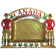 Vintage Canadian Mountie Tray, Vanity Trinkets