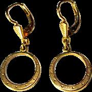 GF Hoop Earrings, Vintage West Germany