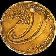 Chicago World's Fair 1933 Pendant / Medal