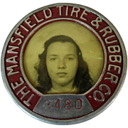 Vintage ID Badge, Mansfield Tire & Rubber Co