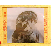 Vintage Coca Cola Advertising Negative Glass Slide 1886-1936