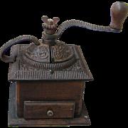 Ornate Antique Cast Iron Coffee Grinder
