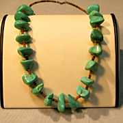 Vintage Turquoise & Heishi Necklace
