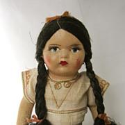 Vintage Souvenir Mexican Doll Circa 1943